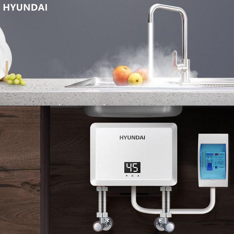 Кухонный электрический водонагреватель, Небольшие домашние нагреватели, кран с подогревом, без хранения воды, мгновенный нагрев, неогранич...