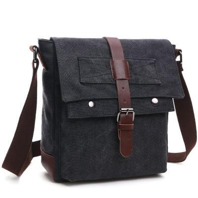 Scione Men Business Messenger Bags For Men Shoulder Bag Canvas Crossbody Pack Retro Casual Office Travel Bag Aliexpress