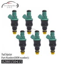 6 pc/lot Injecteurs De Carburant 0 280 150 415 0280150415 Pour BMW 3.0L M3 2.5L 323i 525i E36 E34 M50 S50