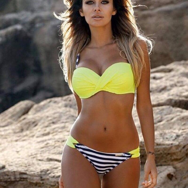 New Sexy Push Up Bikinis Women Swimsuit 2021 Mujer Bathing Suits Halter Top Bikini Set Plus Size Swimwear Women XXXL 2 Piece Set