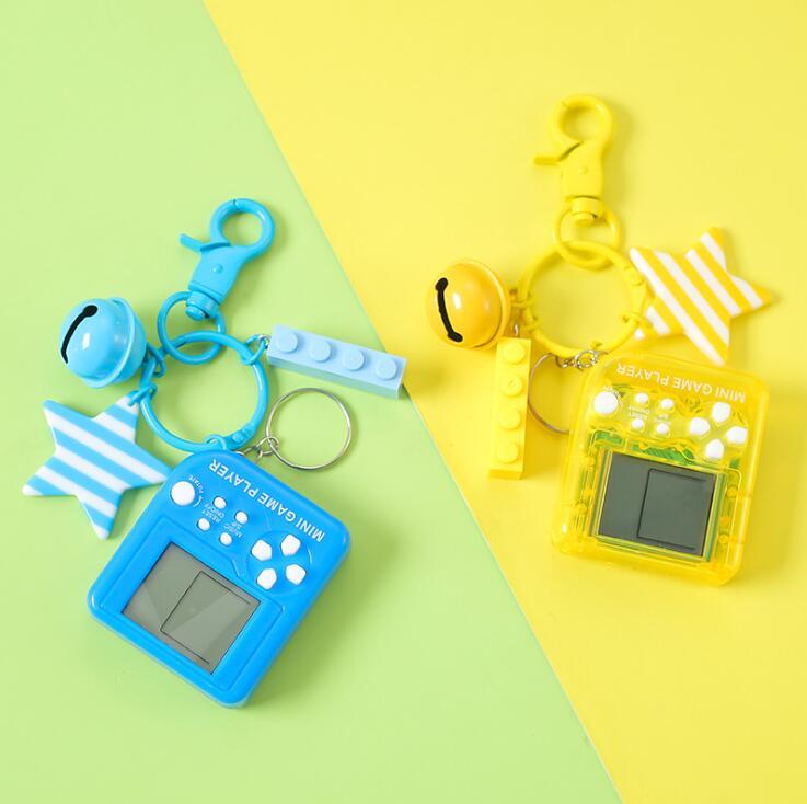 Mini llavero playstation colgante clásico juego máquina creativa de mano de los niños Retro nostálgico Tetris llavero de videojuegos