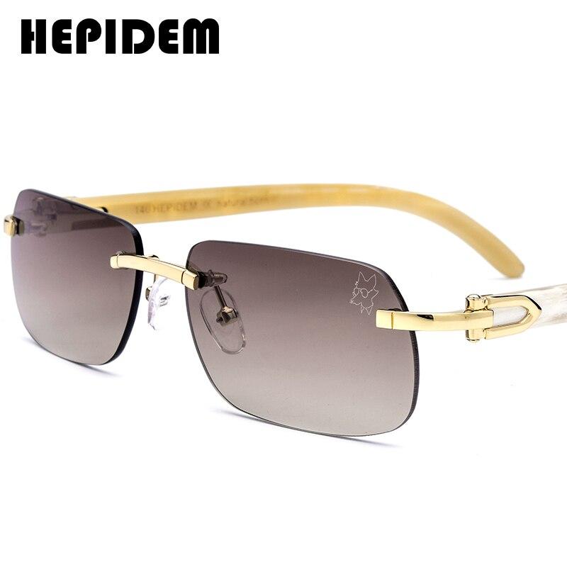 Buffalo Horn Glasses Frame Women New Squared Rimless High Quality Square Men's Sunglasses Luxury Eyewear Eyeglasses