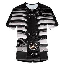 2020 été garçon fille vêtements moto voiture V 12 moteur puissance conception 3d t-shirt enfants T-shirts imprimer enfants décontracté cool t-shirt