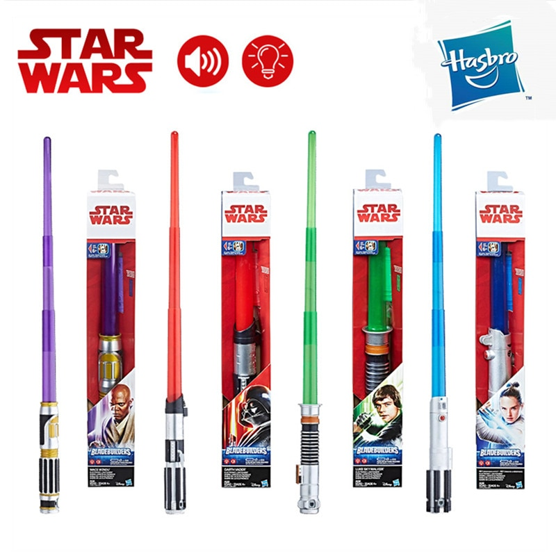 Hasbro Star Wars sable de luz Darth Vader Rey Luke Foelie Windu...