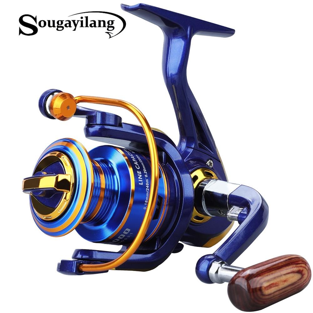 Sougayilang 1000-4000 12 Ball Bearing Spinning Reel Fishing Reel Roda De Pesca para a Pesca de Água Doce Água Salgada Pesca Ferramenta