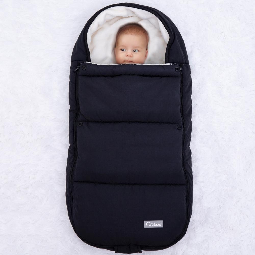 Orzbow Newborn Envelope For Winter Baby Stroller Sleeping Bags Infant Stroller Footmuff Bunting Bags For Children Kids Cocoon