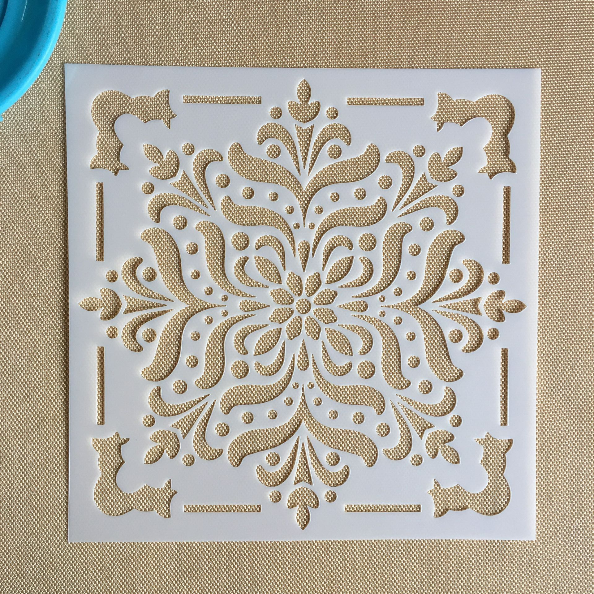 Mandala 1pc 15 * 15cm  mold DIY home decoration drawing template laser cutting wall painting tile tiles stencil