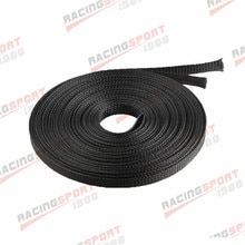 15m (50FT) 13mm Blk Erweiterbar Draht Kabel Sleeving Ummantelung Geflochtene Webstuhl Schläuche