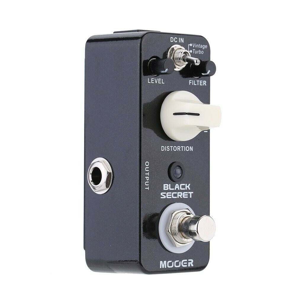 Mooer Black Secret Electric Guitar Effect Pedal Micro Mini Distortion 2 Working Modes True Bypass From Proco Rat Effect enlarge