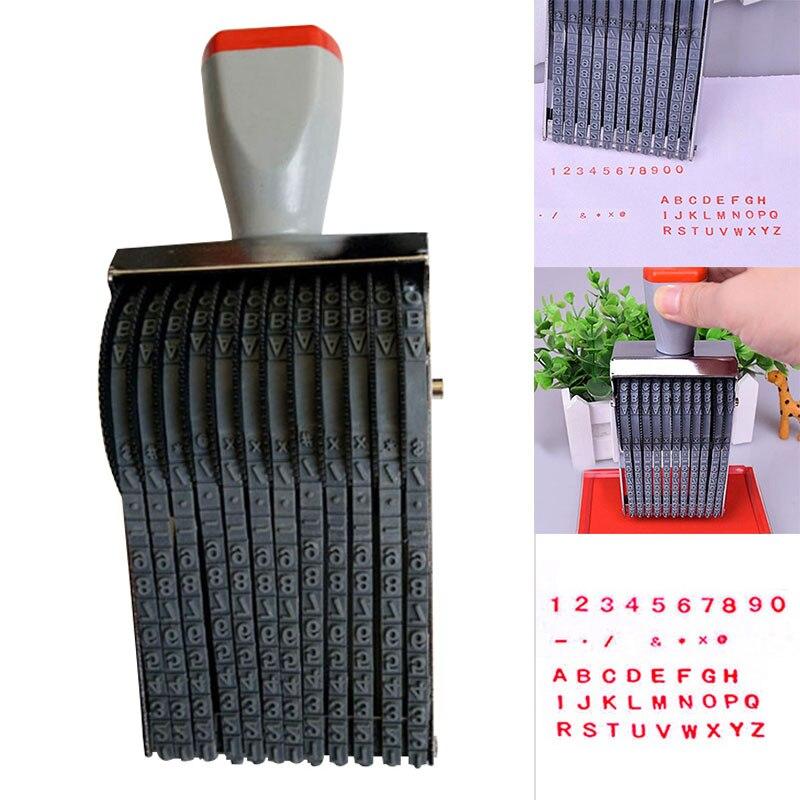 Multipurpose Rolling Stamp 8 Digits Letter Number Emboss DIY Stamper ND998