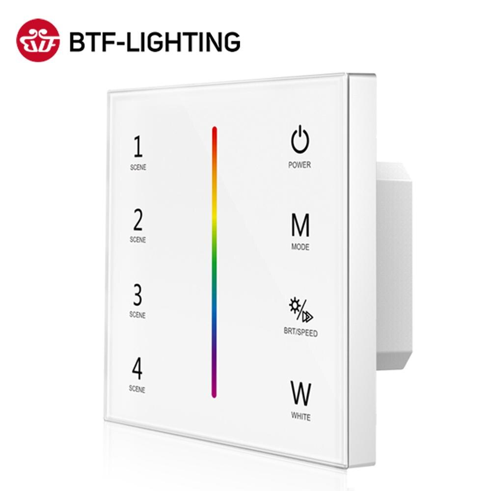 Panel tocar controlador para 2835 LED 5050 luces RGB CCT RGBW 4IN1 RGBCCT 5IN1 tira de luz LED 2,4 GHz Max 288W DC12V 24V
