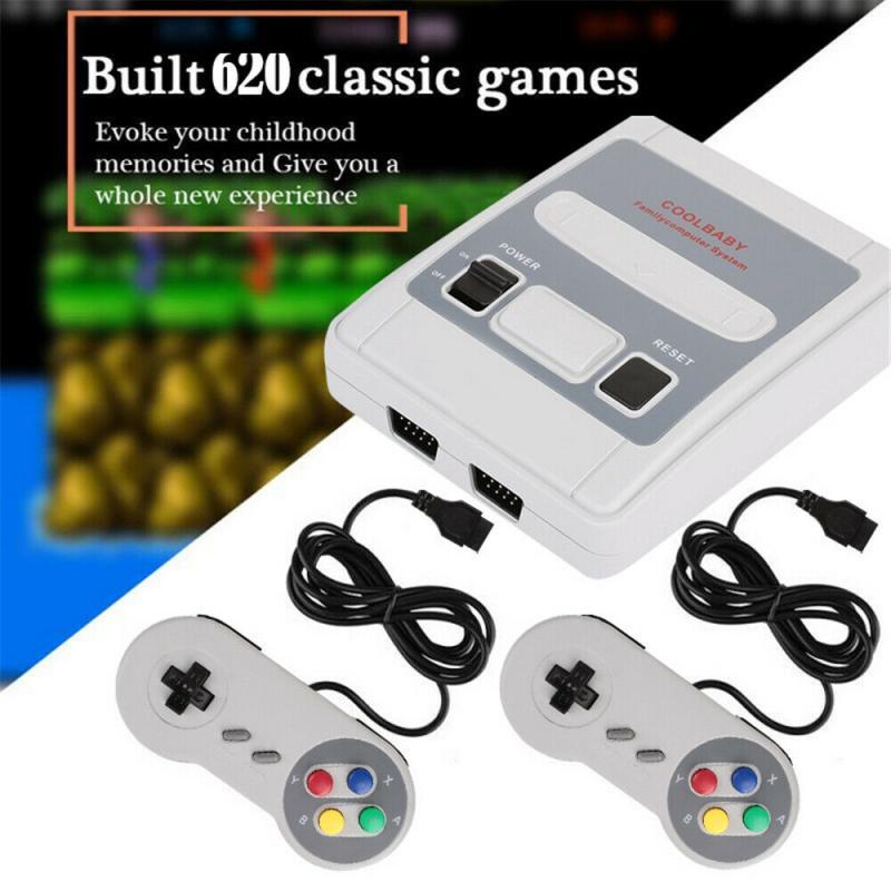Jogador de Jogos Presentes das Crianças Retro Clássico Jogo Mini Família Vídeo Game Console Embutido 620 Jogos Handheld tv