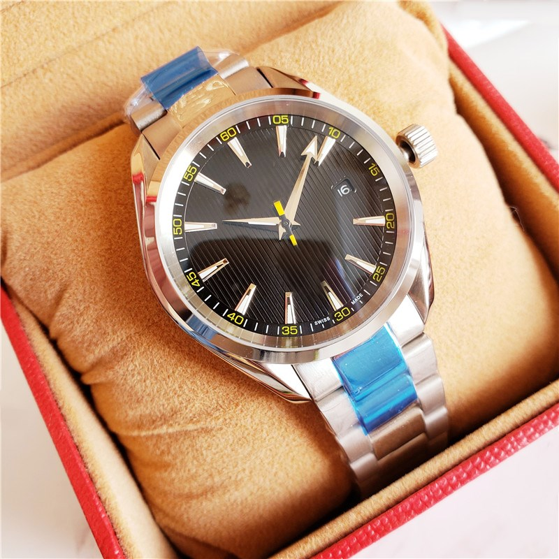 New Classic men's watches luxury brand Automatic Mechanical calendar wristwatches Stainless steel sport clock waterproof