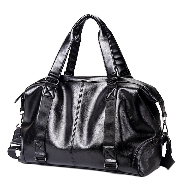 Fashion Luxury Brand Men's Top-Handle Bags PU Leather Handbag Messenger Bags Men Large Capacity Travel Bag Male Shoulder Bags