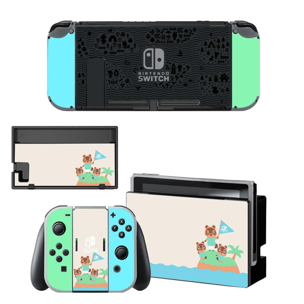 Animal Crossing Screen Protector Sticker Skin for Nintendo Switch NS Console Dock Charger Stand Holder Joycon Controller Skin vinyl screen skin sticker laurel dog skins protector stickers for nintendo switch ns console controller stand sticker