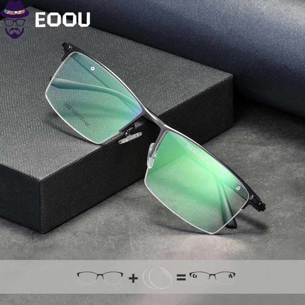 Gafas De media optica para hombre, Gafas De gran tamaño, Gafas De Lentes De Gafas De cristal