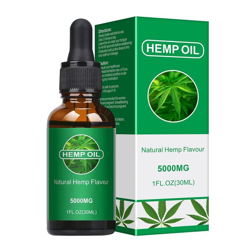 30ml Organic Oil Hemp Oil Pure Natural Skin Care Oil Analgesic Sleep Aid Moisturizing Hair Care Esse