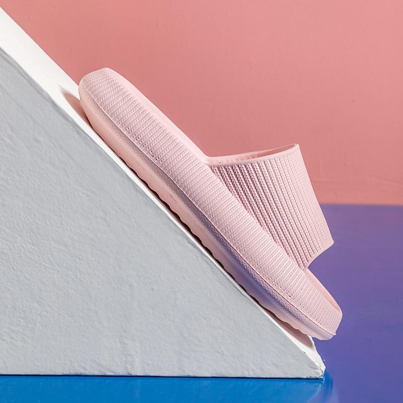 Women Thick Platform Slippers Summer Beach Eva Soft Sole Slide Sandals Leisure Men Ladies Indoor Bathroom Anti-slip Shoes