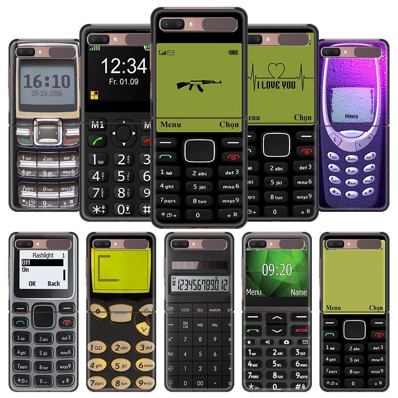 AliExpress - Smartphone Print Phone Cover For Samsung Galaxy Z Flip For Capa ZFlip 5G 6.7Inch PC Black Shell TPU Hard Cases Fundas Sac