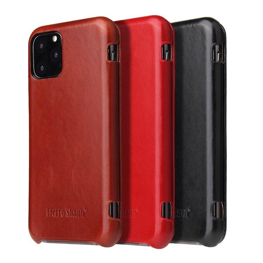 100% genuino Leanther Flip caso de la cubierta para Apple iPhone 6 6s 7 7 Plus X XR XS Max 11 Pro SE 2020 de cuero Real inalámbrico Charing Cross