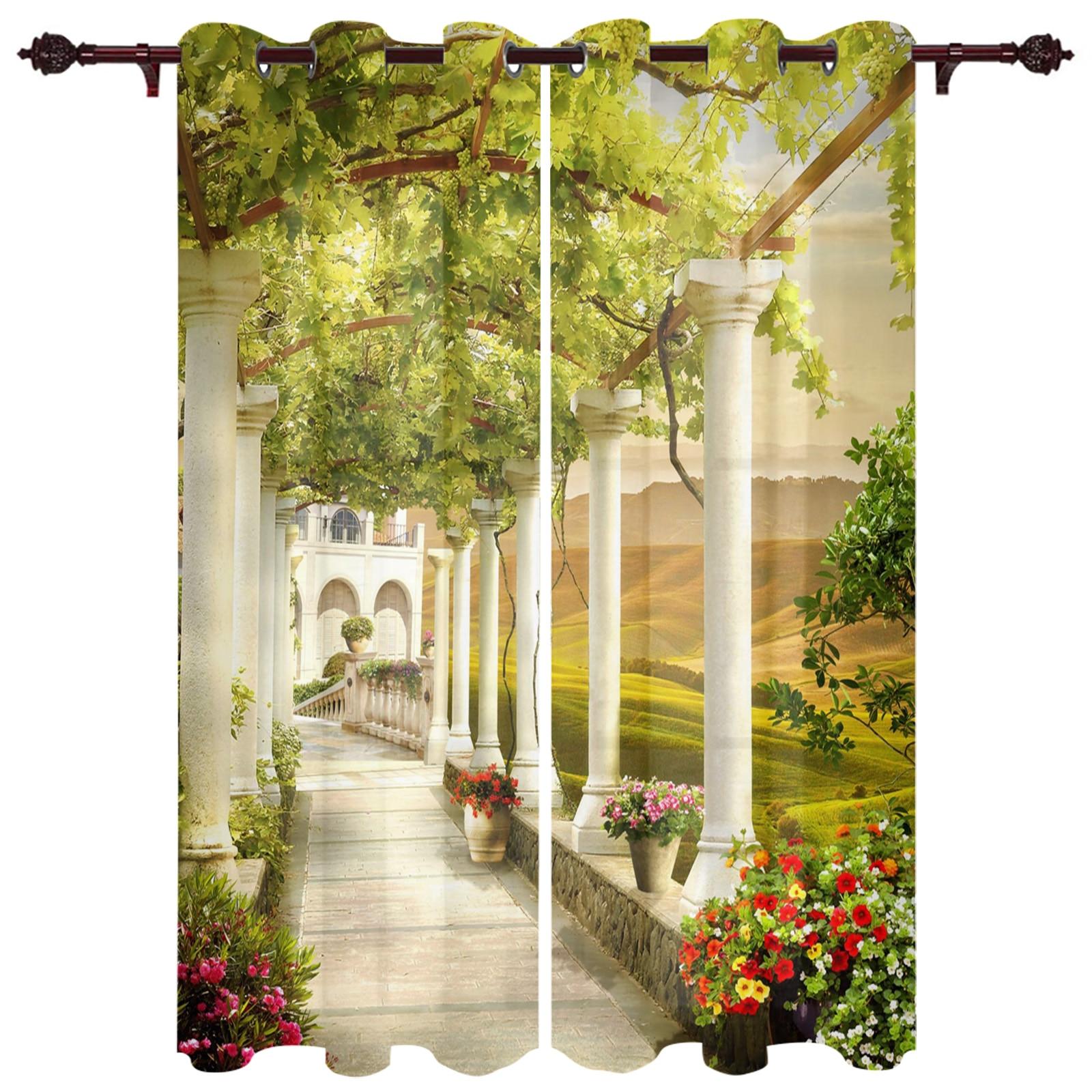 رائعة الستائر الممر الزهور بناء مناسبة لغرفة المعيشة غرفة نوم الستار في الهواء الطلق أكشاك ديكور الستارة الستارة