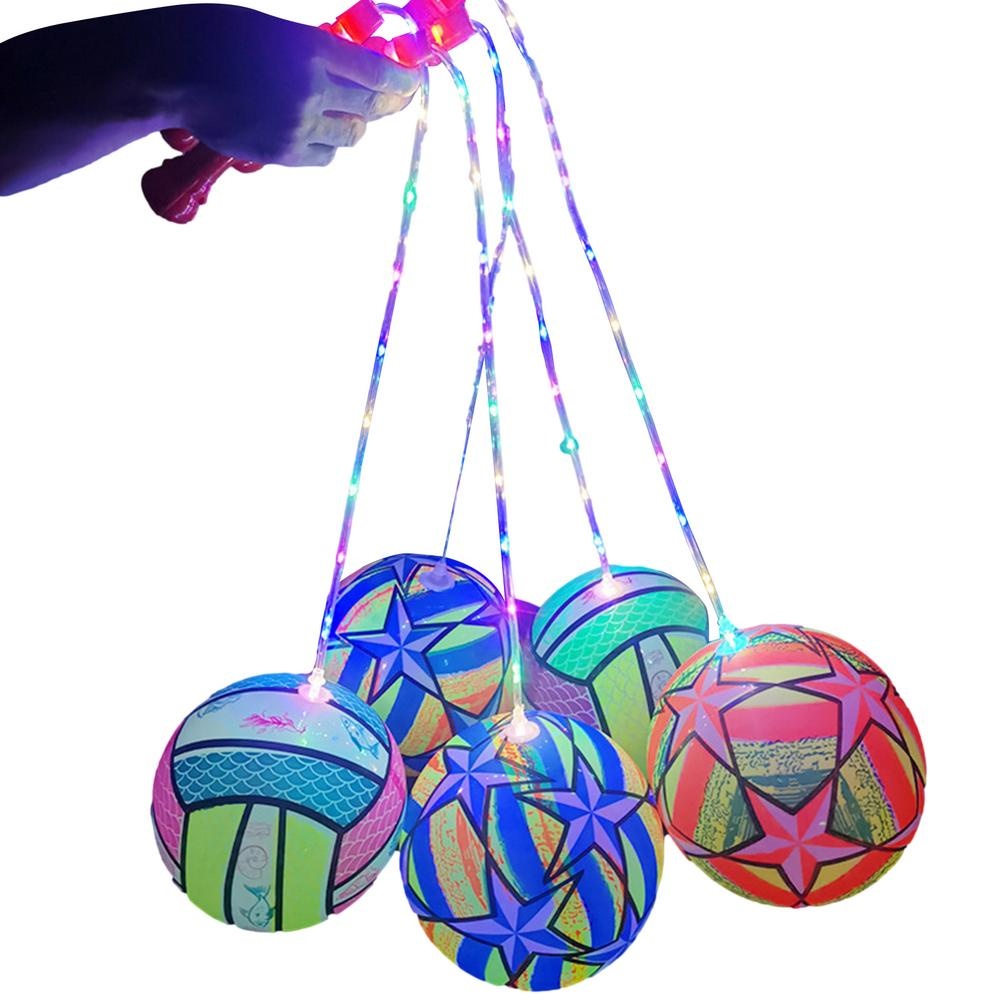 Детская игрушка, светящийся мяч, мигающий мяч-подпрыгиватель для фитнеса, портативный надувной мяч-подпрыгиватель для бросания, антистресс...