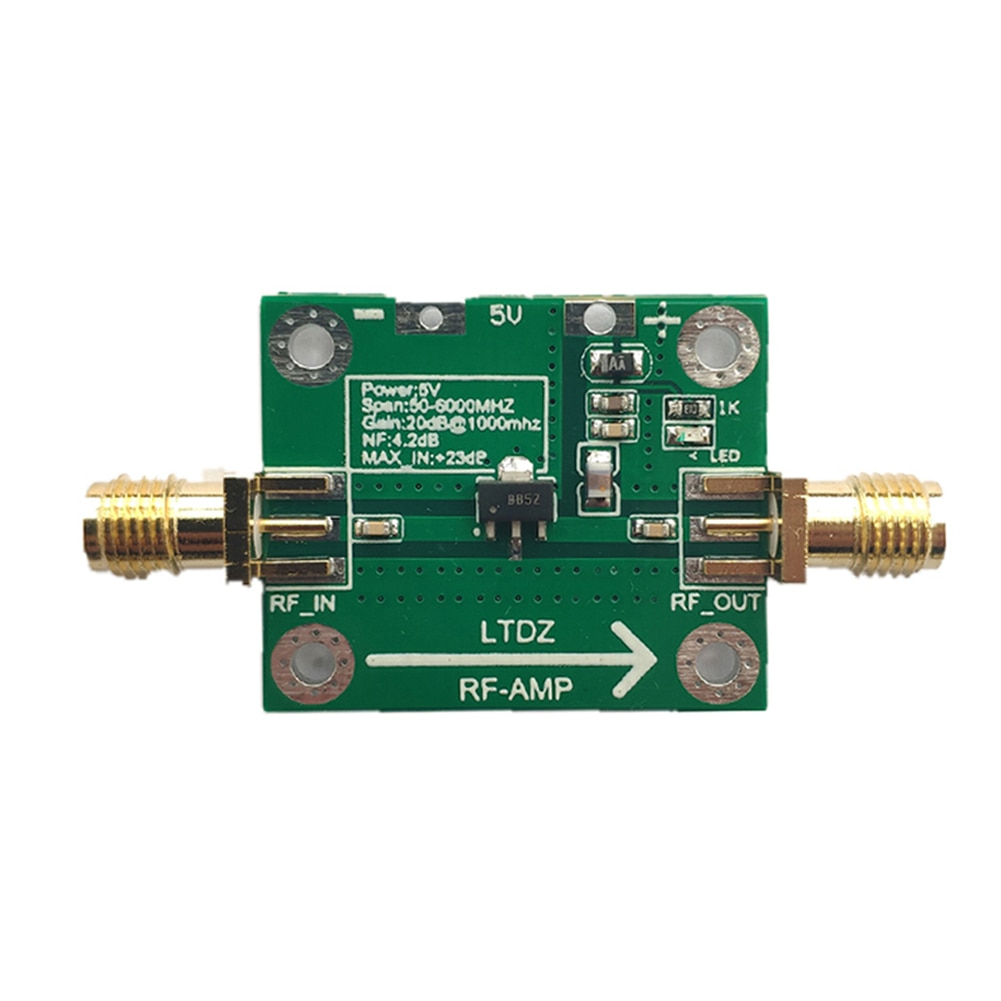RF Power Amplifier Module Signal Transmitter Board 20DB Gain 50MHz-6GHz for Cellular PCS GSM UMTS Amplifier Board Module