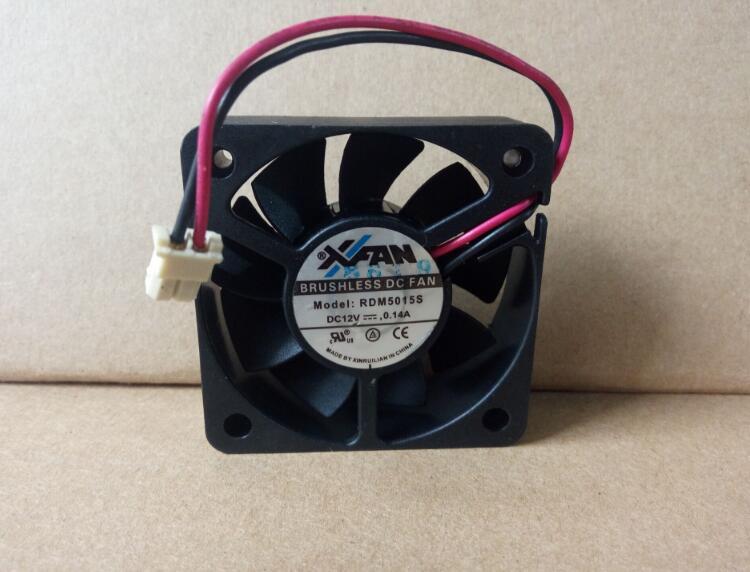 Original xfan rdm5015s DC12V 0.14a 50 * 50 * 15mm two-wire DVD player cooling fan