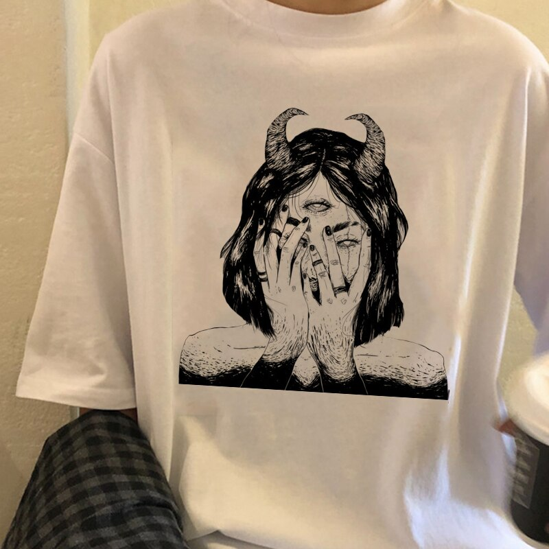 Mujeres camiseta vegetariana de las mujeres camiseta Harajuku chica Cool camiseta Punk...