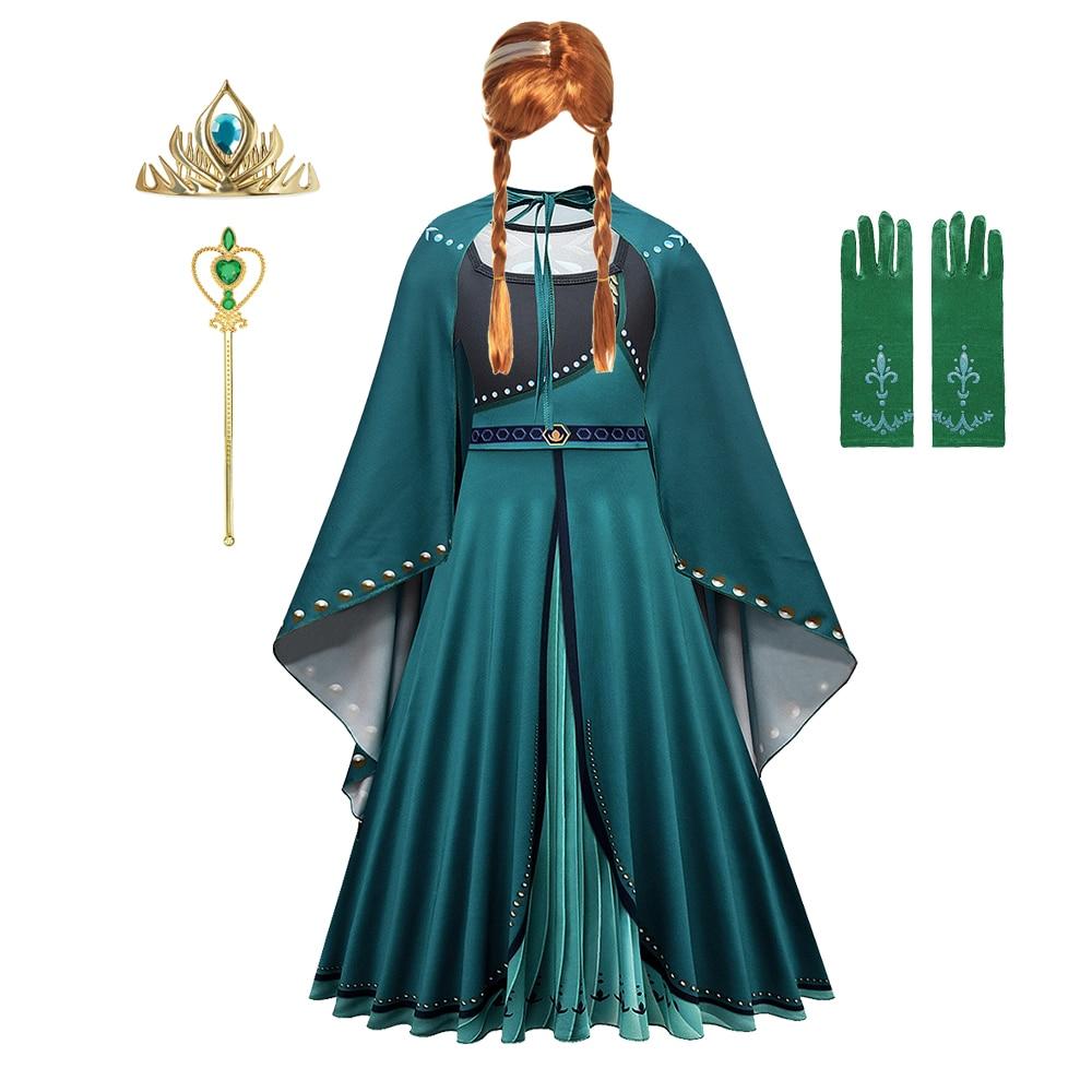 Anna Dress for Girl Christmas Childrens Party Carnival Costumes Girls Child Elsa Costume Elza
