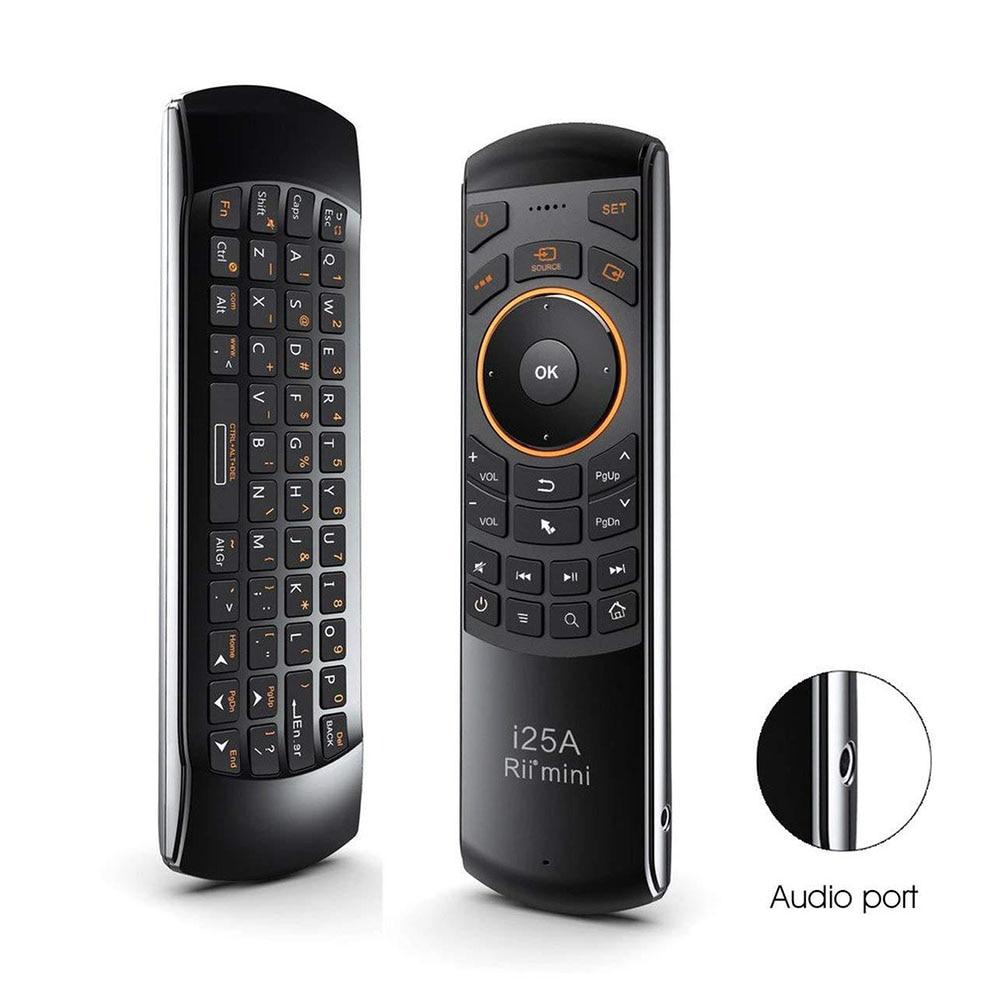Rii-جهاز تحكم عن بعد صغير I25A ، 2.4 جيجا هرتز ، لاسلكي ، مع لوحة مفاتيح روسية وإنجليزية ، لجهاز Android TV عن بعد