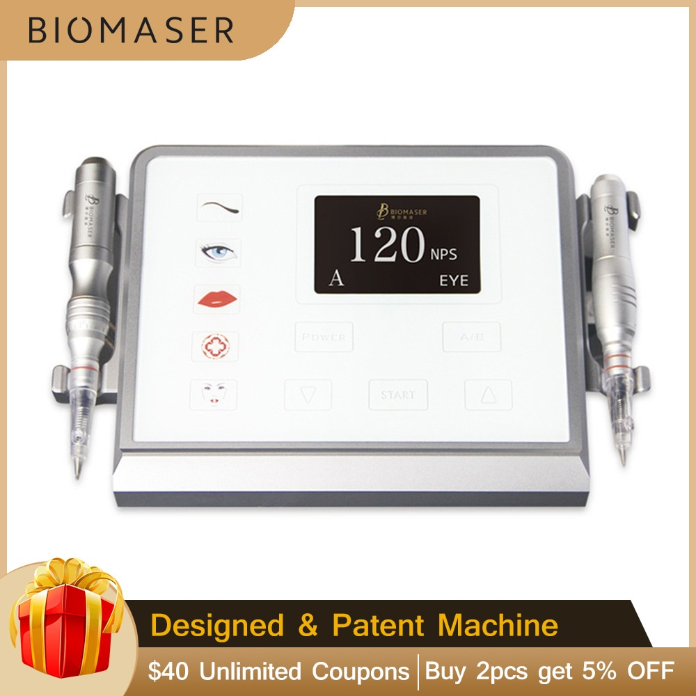 Biomaser P1 Intelligent Digital Semi Permanent Makeup Device For Eyebrows lips Eyes Complete Tattoo Pen Professional Machine