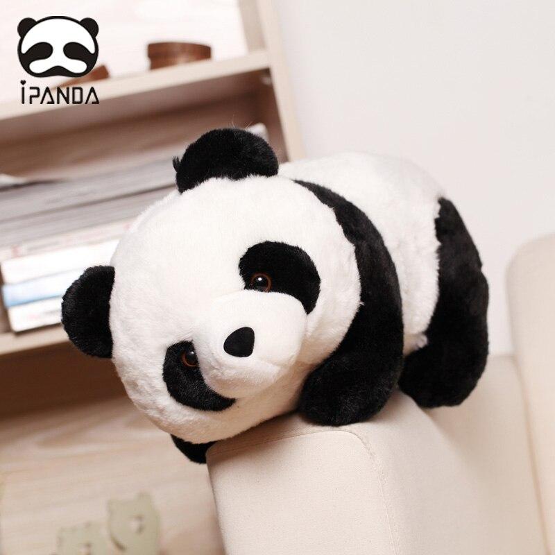 Panda Plush Toy Cute Black and White Panda Doll Creative Lying Bear Doll Doll kawaii bag  anime bag cute resin bride and bridegroom toy doll