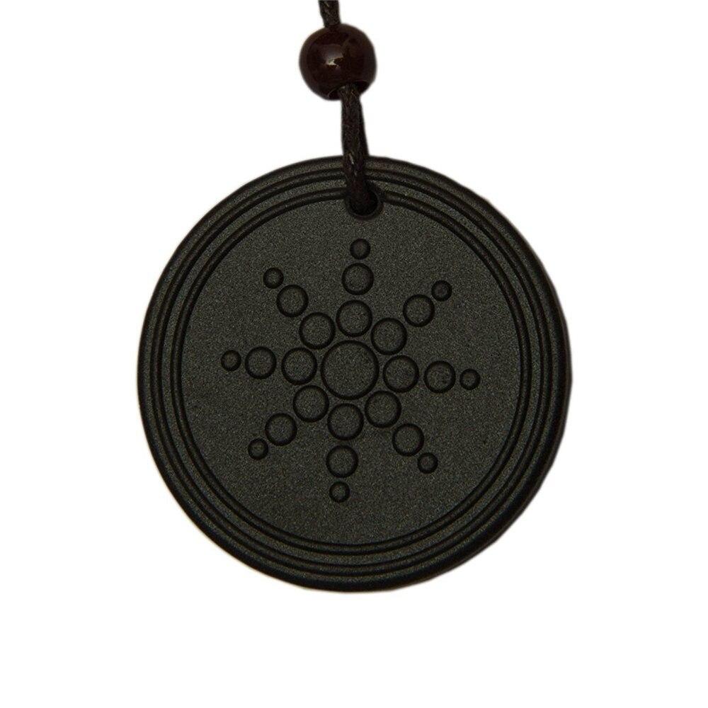 Модные женские и мужские квантовые черные ожерелья с кулоном, скалярные Orgon Energy neg ions EMF защита лот только кулон