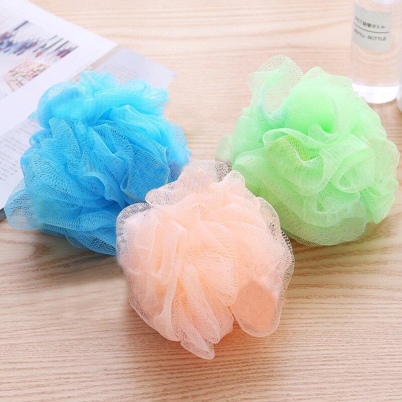 1Pcs  Soft Bath Shower Balls Mesh Sponge Accessories Bathroom Supplies PE Bath Flower Bath Shower Sc