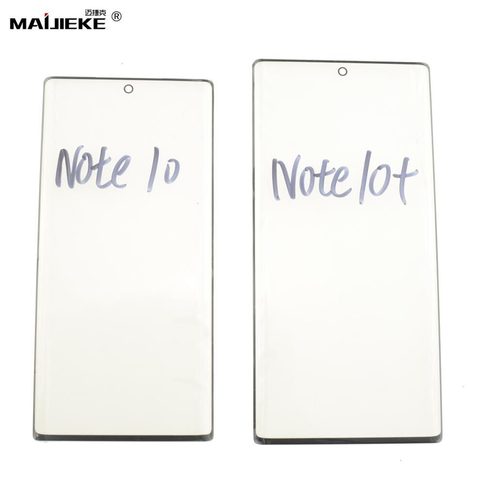 MAIJIEKE pantalla táctil Panel exterior de vidrio para Samsung Galaxy Note 10 plus Note 10 + LCD Kits de reemplazo de vidrio frontal + herramientas de apertura