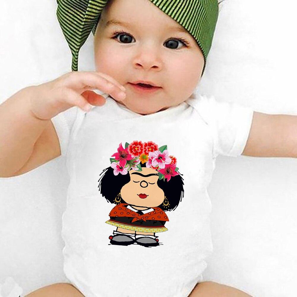 Милый мультяшный стиль Харадзюку, Mafalda, Одежда для новорожденных девочек, летнее свободное боди для девочек, модная новинка 2021