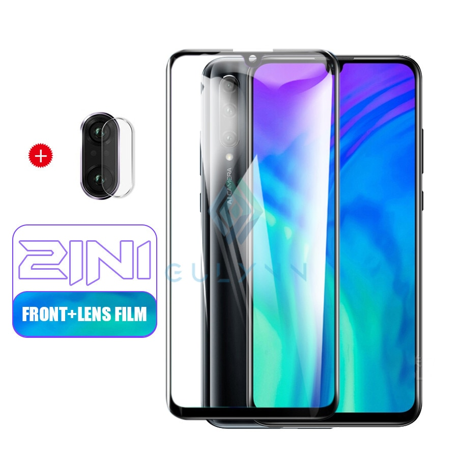 2in1 מצלמה עדשת מזג זכוכית מגן עבור Huawei Honor 20 20S 9X P30 P20 לייט פרו מגן זכוכית על נובה 5 5i 5T 6 HD סרט