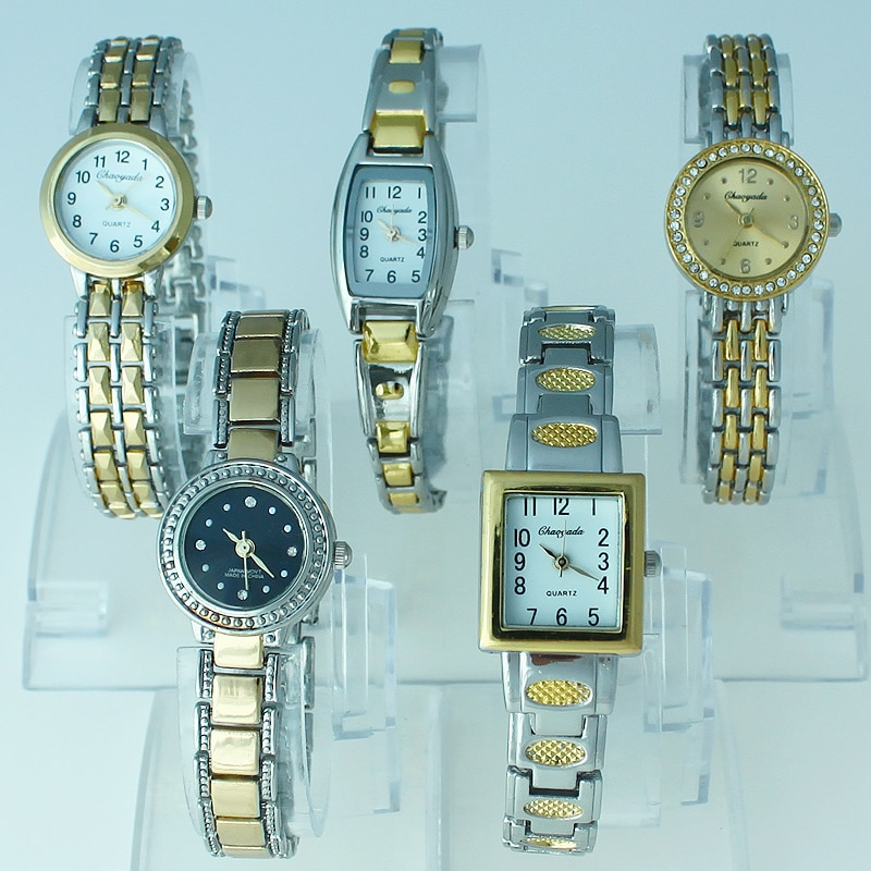 10pcs Mixed Bulk Lot of Colorful Rose Gold Lady Women Watches Quartz Movement Wristwatch Dress Watch Gift JBT1 Wholesale price enlarge