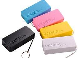 5600mah 2x 18650 usb power bank caso carregador de bateria caixa diy para o iphone sumsang recarregável moda cor vívida design