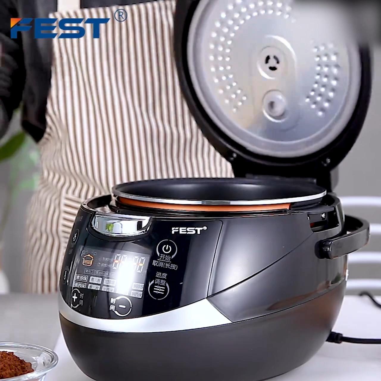 FEST 5L كامل التلقائي الذكية شاي فقاعات طباخ بوبا لؤلؤة طباخ آلة لمتجر الشاي الحليب