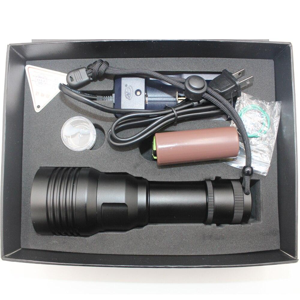 Uranusfire Yellow/White Light LED Diving Flashlight Tactical 26650 Torch Waterproof Underwater 100M XM L2 LED Dive Lamp Lanterna enlarge