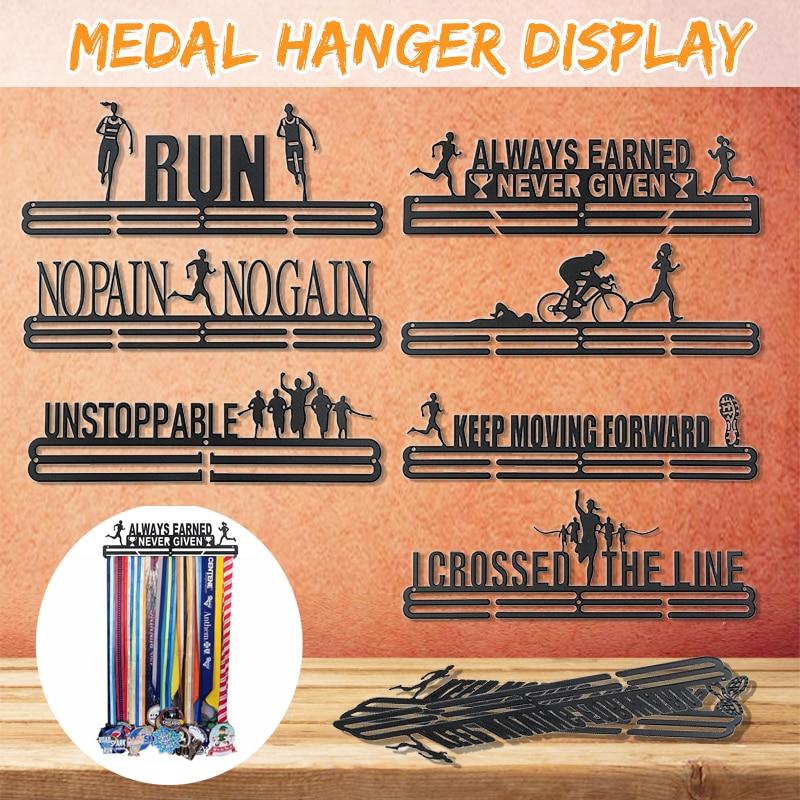 Stainless Steel Medal Hanger Medal Holder Display Rack Running Swimming Gymnastics Marathons Bike Sport Medal Gift Decoration