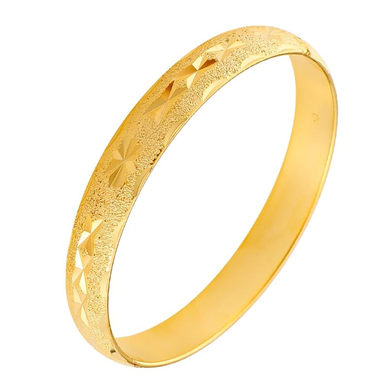 Dubai 24K brazaletes de oro para la novia de la boda brazaletes de brazalete abierto brazaletes africanos étnicas joyas de pulseras Venta caliente