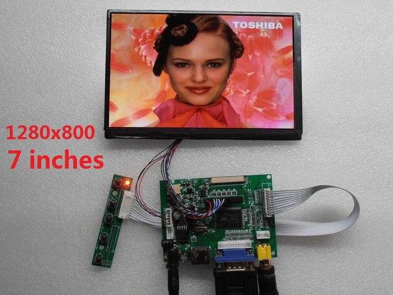 HDMI + VGA + 2AV 7-zoll LCD display modul IPS LCD screen LCD panel HD 1280X800 LCD auto fahrer bord priorität