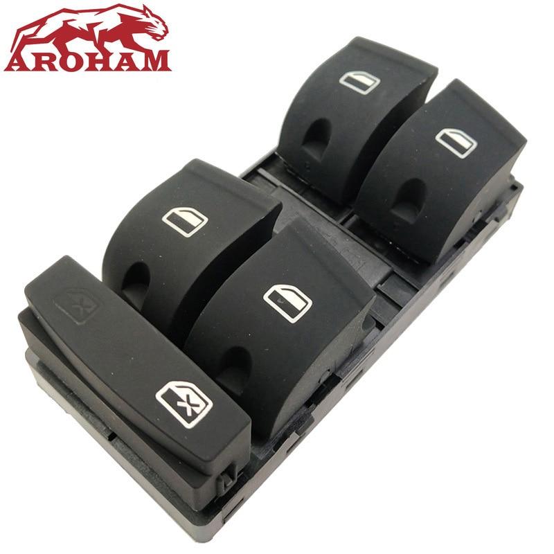 Botón de Control de ventana principal lateral del conductor Aroham 4F0 959 851 F/4F0959851/4F0959851F/4F0 959 851F para 2006-2007 para Audi A6