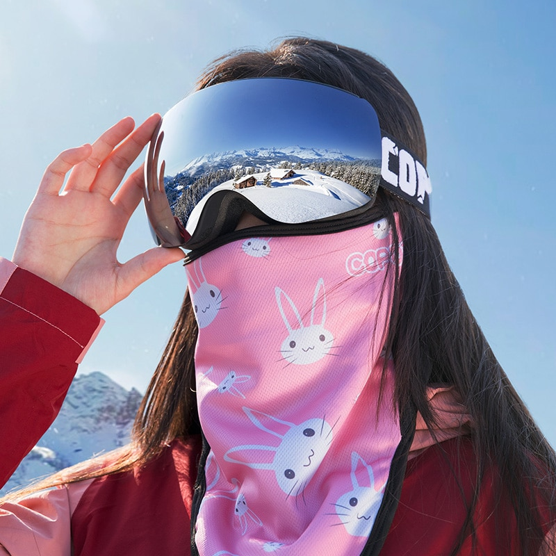 Anti-Fog Ski Goggles Adult Men Women Skiing Safety Goggles Double Layer Skiing Eyewear UV400 Outdoor Sports Glasses Equipment