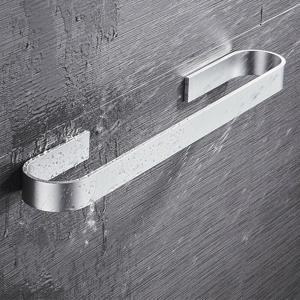 Towel Holder Bathroom Towels Rack Hanger Black Silver 304 Stainless Steel Wall Hanging Towel Bar Organizer Kitchen Storage Shelf