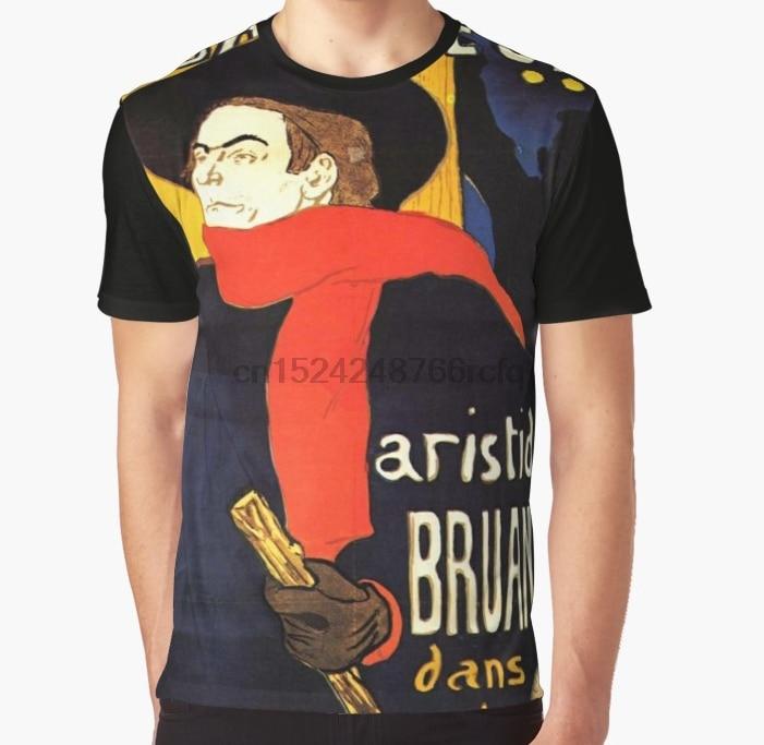 All Over Print 3D Women T Shirt Men Funny tshirt HENRI DE TOULOUSE LAUTREC Ambassadeurs Aristide Bruant in his cabaret