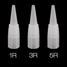100pcs Tattoo Tips 1R 3R 5R Tattoo Caps Disposable Permanent Eyebrow Needles Caps Tips for Eyebrow Machine Needles